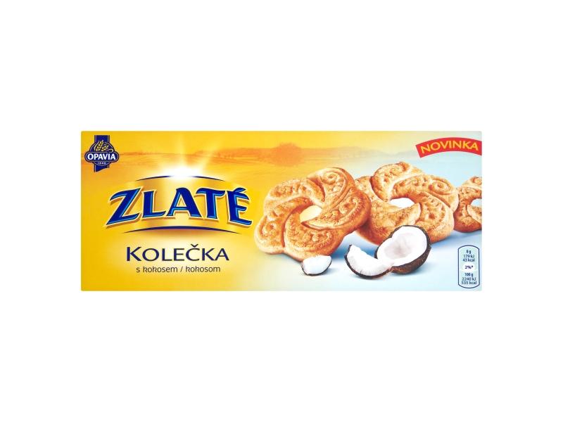 Opavia Zlaté Kolečka s kokosem 168g