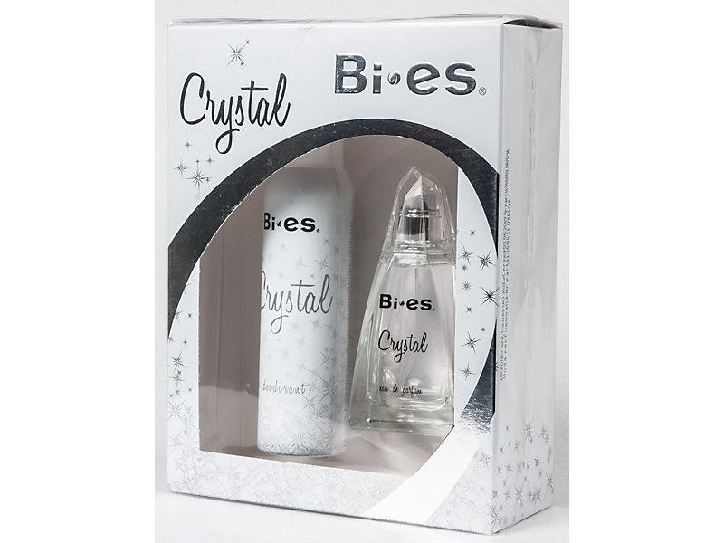Kazeta BI-ES Crystal EDP 100ml + deodorant dám.