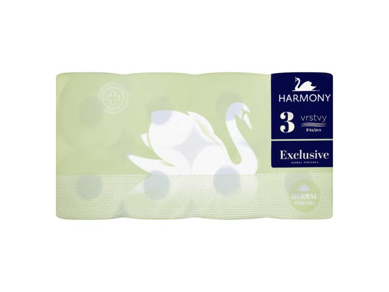 Harmony Exclusive Herbal toaletní papír 3-vrstvý 8ks