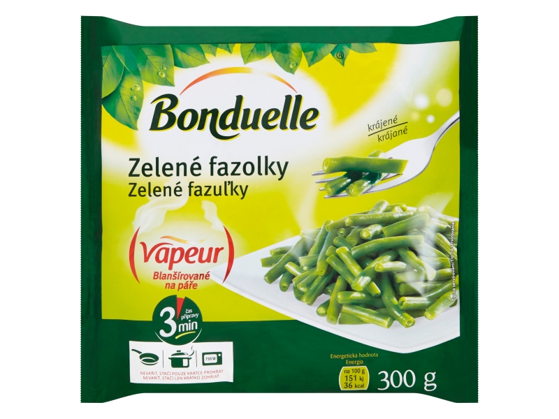 Bonduelle Vapeur Zelené fazolky krájené mraž. 300g