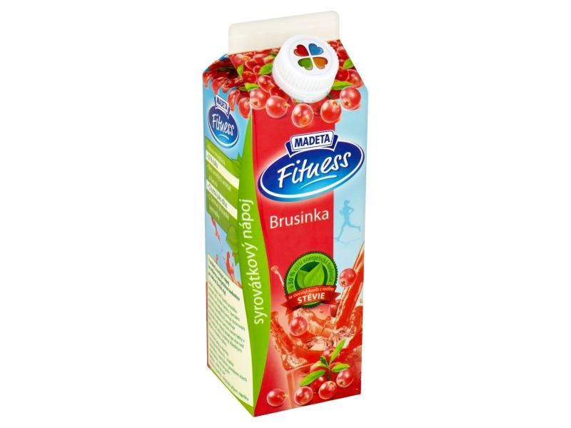 Madeta Fitness Syrovátkový nápoj brusinka 450g