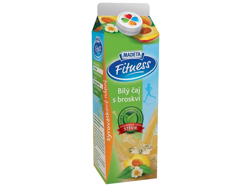 Madeta Fitness Syrovátkový nápoj bílý čaj s broskví 450g