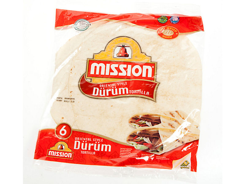"Mission Tortilla Durum 10"" 6x61,70g"
