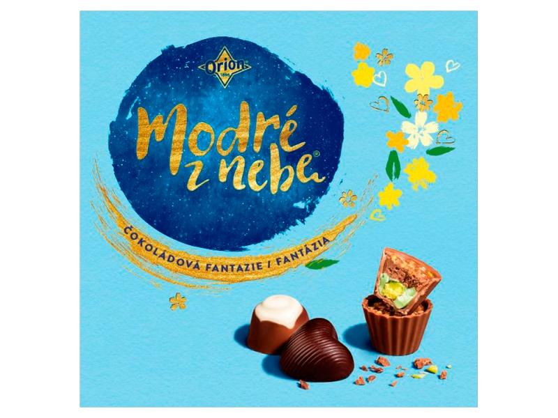 ORION MODRÉ Z NEBE Čokoládová fantazie Bonboniéra 173g