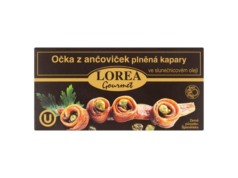 Lorea Gourmet Očka z ančoviček plněná kapary ve slunečnicovém oleji 50g