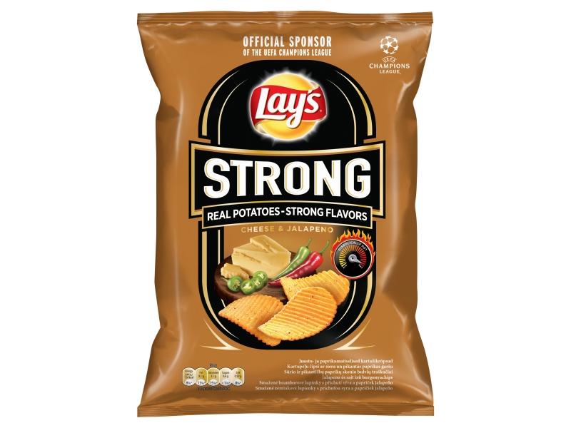 Lay´s Strong Chipsy s příchutí sýra a papriček jalapeňo 77g