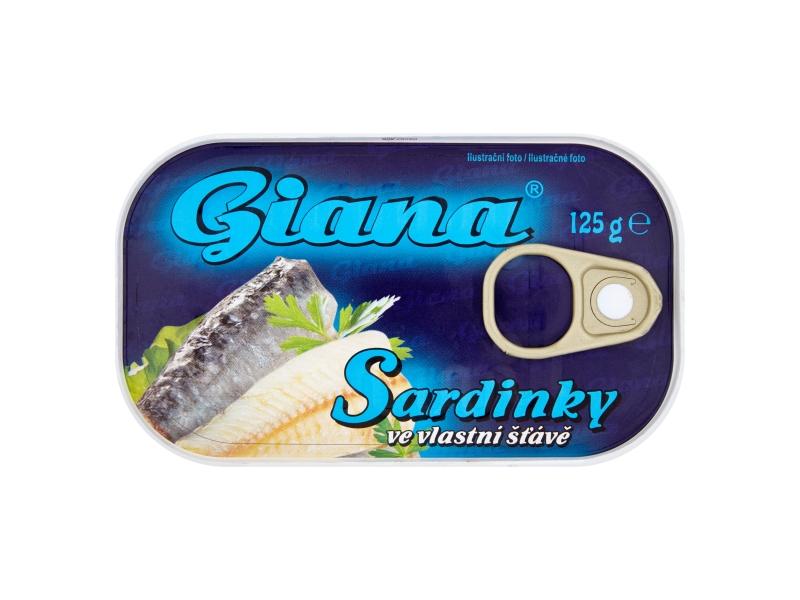 Giana Sardinky ve vlastní šťávě 125g