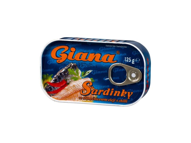 Giana Sardinky v rostlinném oleji s chilli 125g