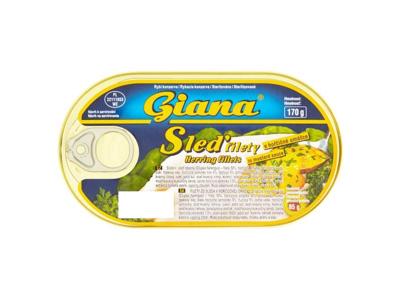 Giana Sleď filety v hořčičné omáčce 170g