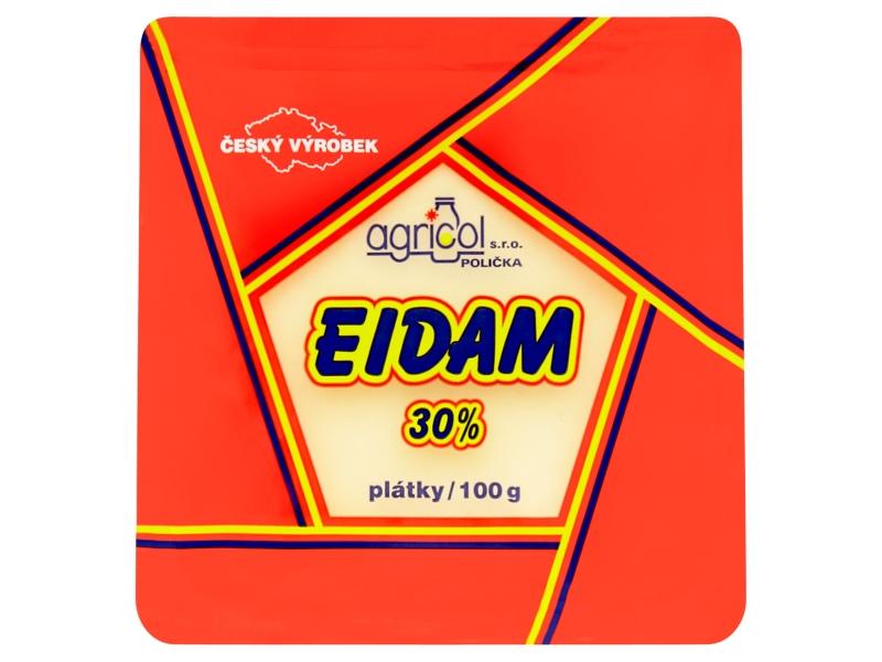 Agricol Eidam 30% plátky 100g