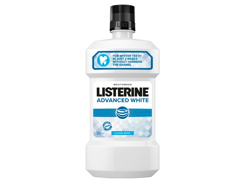 Listerine Advanced White Clean Mint ústní voda 500ml