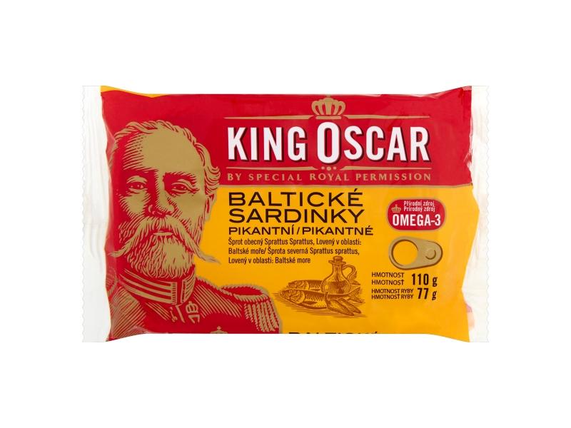 King Oscar Baltické sardinky pikantní 110g
