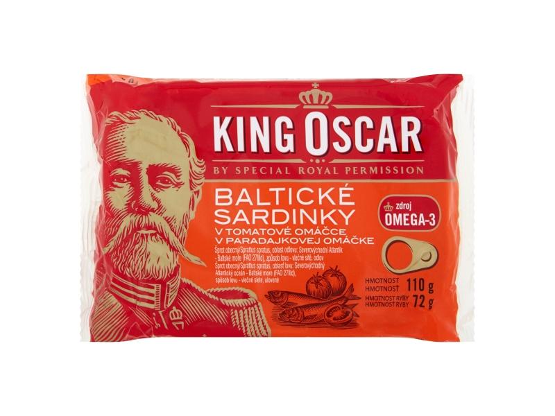 King Oscar Baltické sardinky v tomatové omáčce 110g