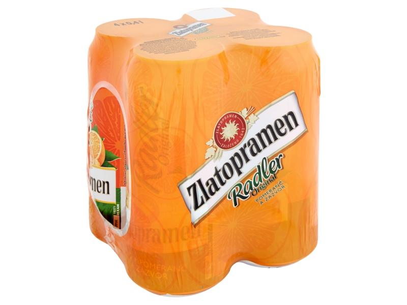 Zlatopramen Radler Pomeranč a zázvor 4x0,4l