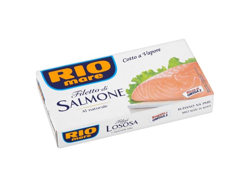 Rio Mare Filety z lososa ve vlastní šťávě 150g