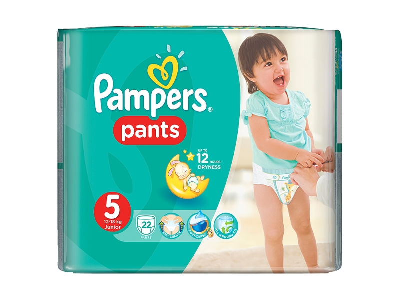 Pampers Plenkové kalhotky Pants Junior S5 22ks