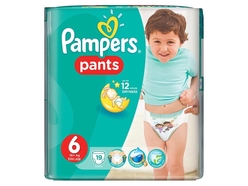 Pampers Plenkové kalhotky Pants Extra Large S6 19ks