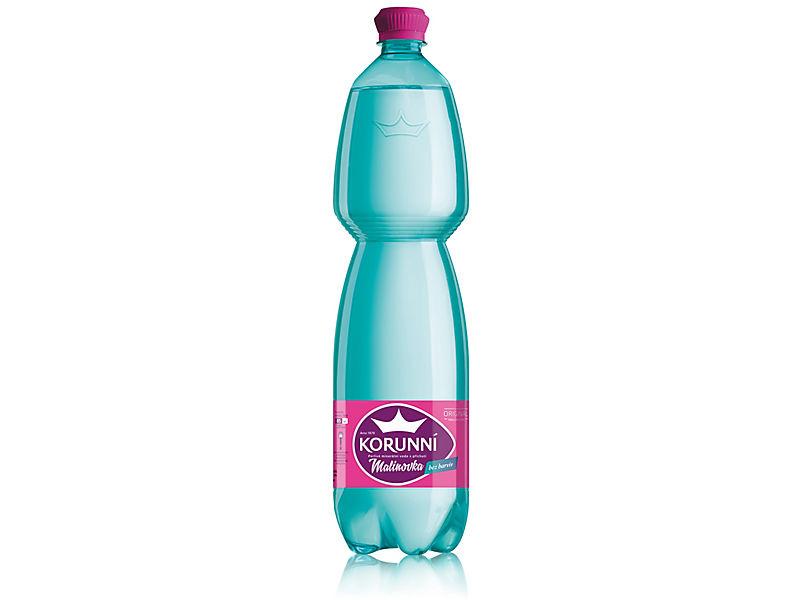 Korunní Malinovka perlivá voda 1,5l