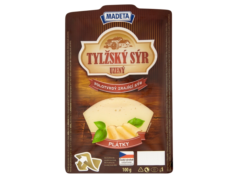 Madeta Tylžský sýr uzený 45% plátky 100g