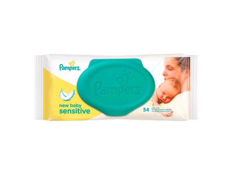 Pampers Sensitive New Baby čisticí ubrousky 54 ks