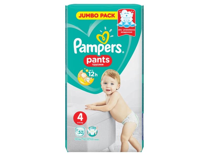 Pampers Kalhotkové pleny plants jumbo pack S4 52ks