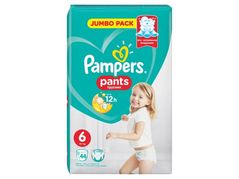 Pampers Kalhotkové pleny plants jumbo pack S6 44ks