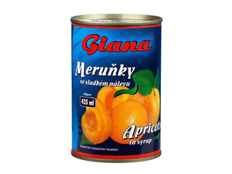 Giana Meruňky ve sladkém nálevu 425ml