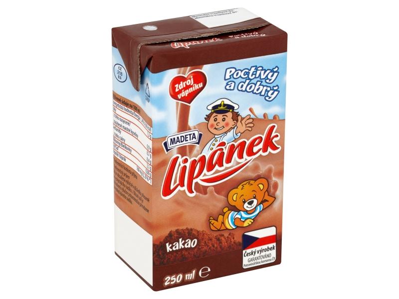 Madeta Lipánek Mléko trvanlivé kakao 250ml