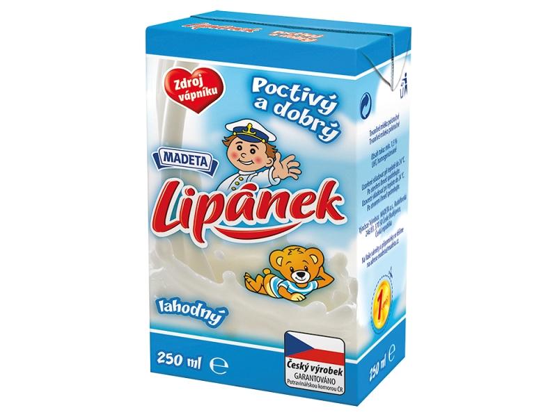 Madeta Lipánek Lahodný trvanlivé polotučné mléko 250ml