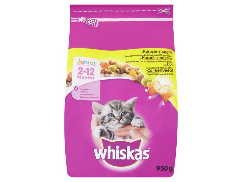 Whiskas Junior Kompletní krmivo pro koťata s kuřecím masem 950g