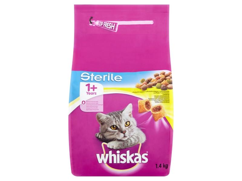 Whiskas Sterile kompletní krmivo pro dospělé kočky s kuřecím masem 1,4kg