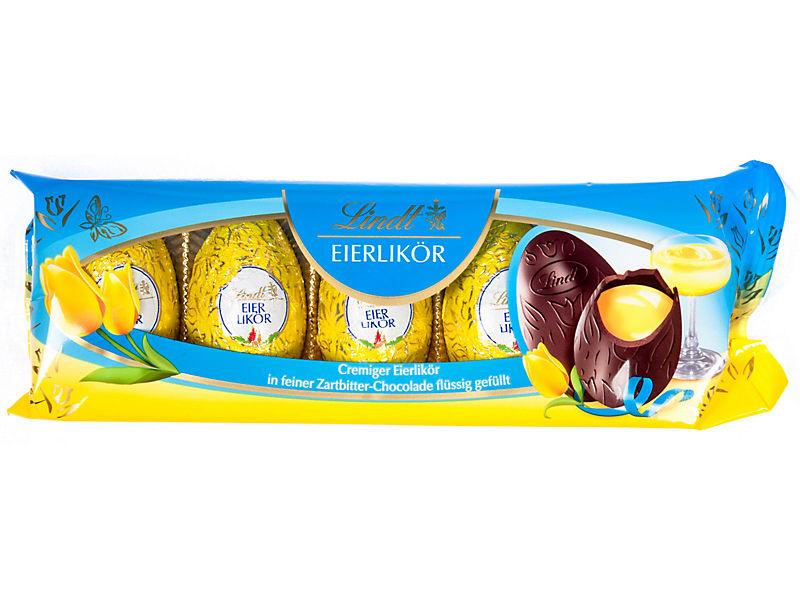 Lindt Vaječný koňak Čokoládová vajíčka náplní 90g