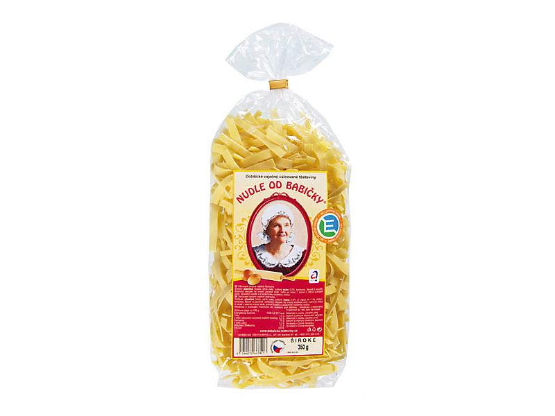 Dobšické Těstoviny Nudle od babičky široké 350g