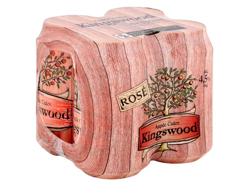 Kingswood Apple cider rosé 4x330ml