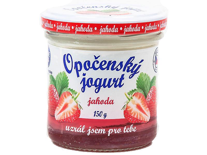 Opočenský jogurt jahoda 2,8% 150g
