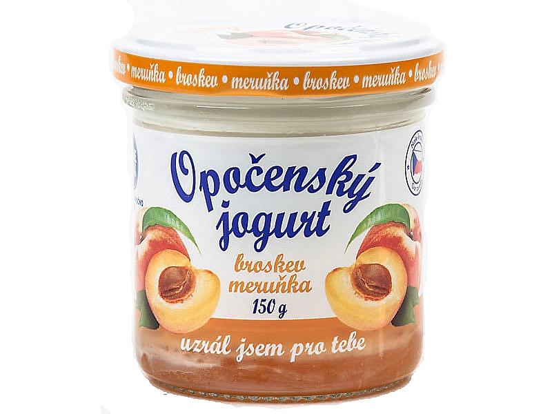Opočenský jogurt broskev a meruňka 2,8% 150g