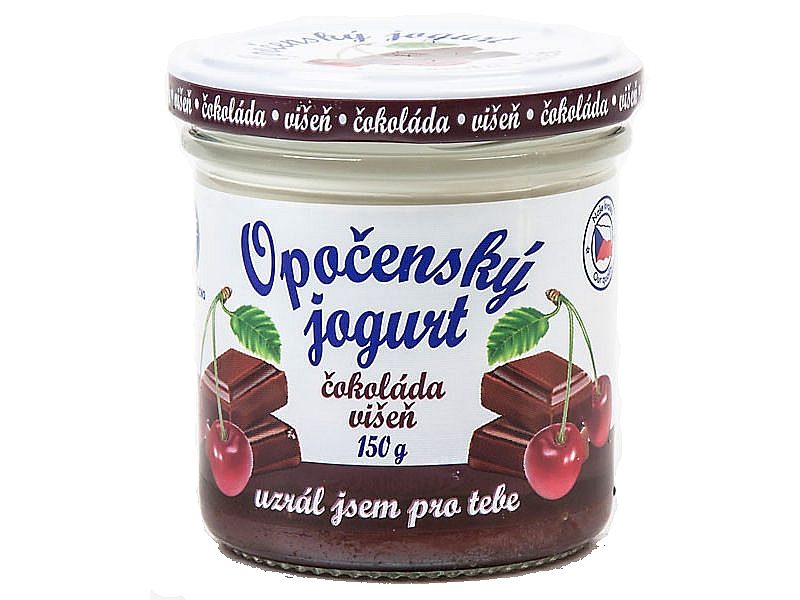 Opočenský jogurt čokoláda a višeň 2,8% 150g