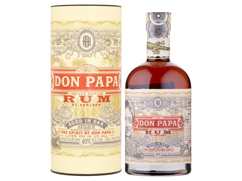 Don Papa Ron Rum tmavý 40% 700ml, tuba