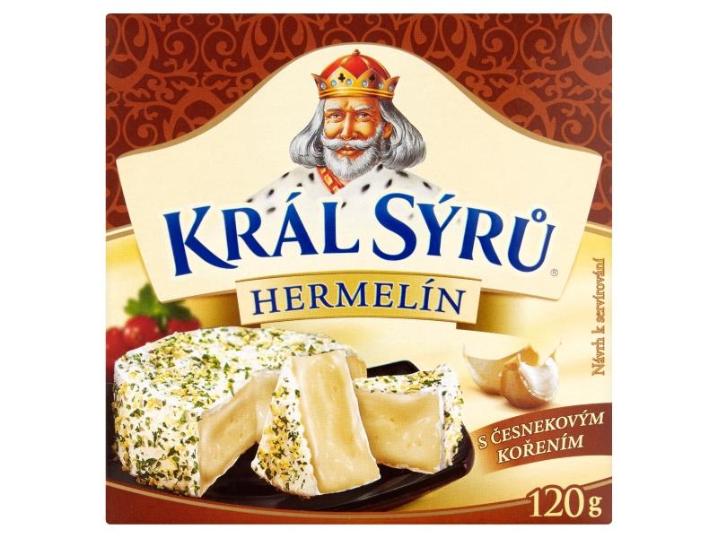 Král Sýrů Hermelín s česnekovým kořením 120g