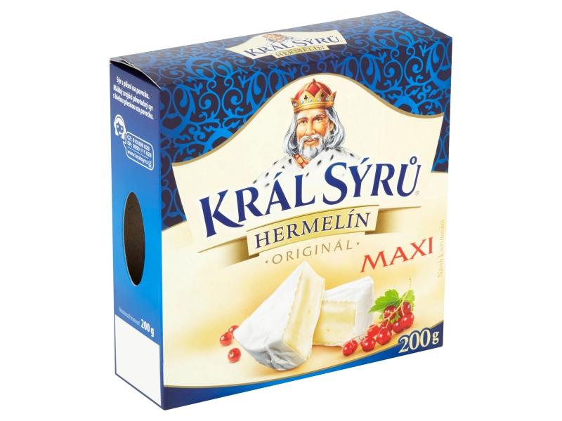 Král Sýrů Hermelín originál MAXI 200g