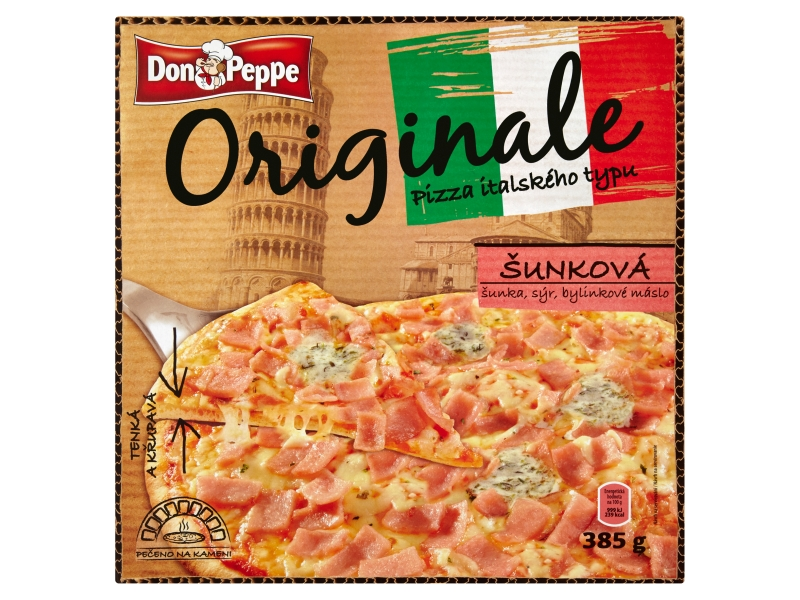 Don Peppe Originale Pizza šunková mraž. 385g