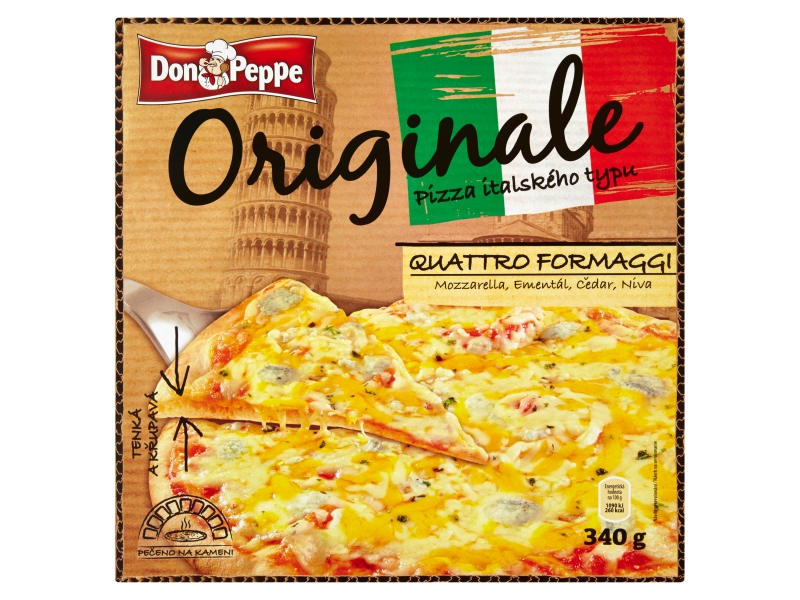 Don Peppe Originale Pizza quattro formaggi mraž. 340g