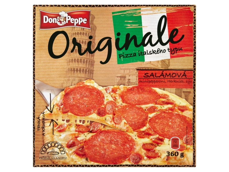 Don Peppe Originale Pizza salámová mraž. 360g