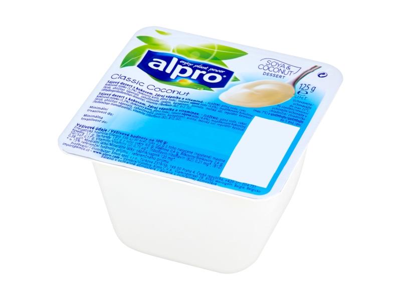 Alpro Sójový dezert s příchutí kokosu, 4x125g