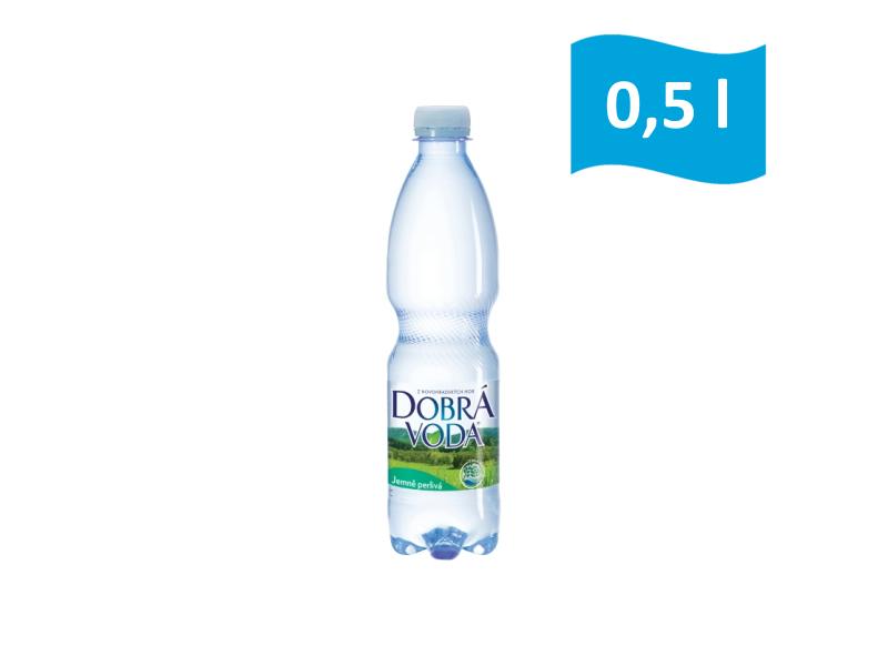 Dobrá voda jemně perlivá 0,5l, malá láhev