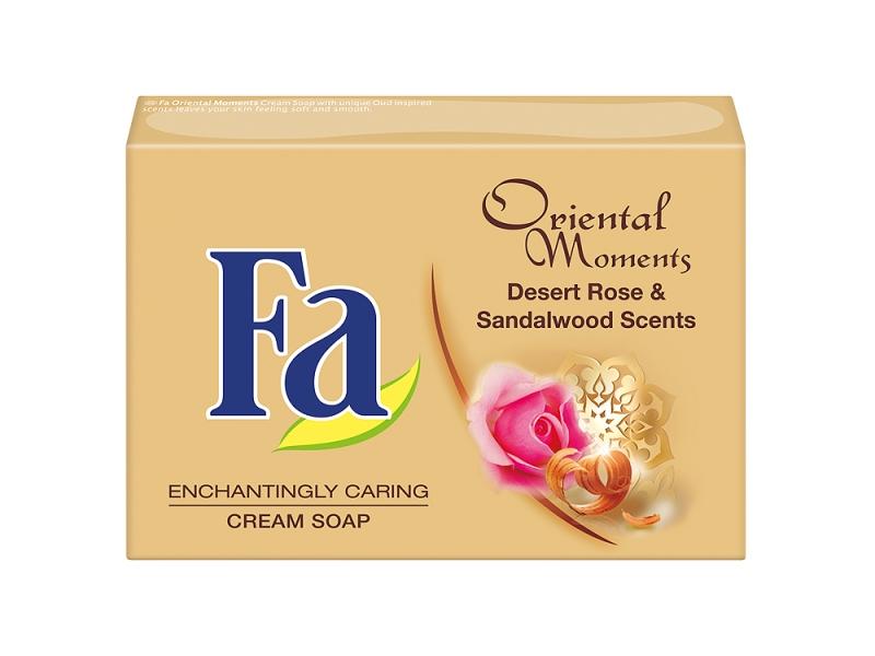 Fa Oriental Moments Desert rose & sandalwood scents krémové mýdlo 90g