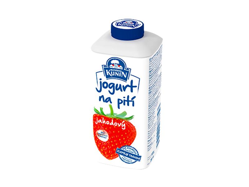 Kunín Jogurt na pití jahodový 300g