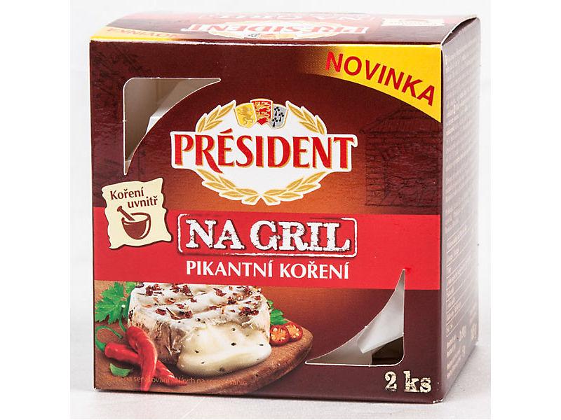 Président Camembert Na gril Sýr pikantní koření 185g