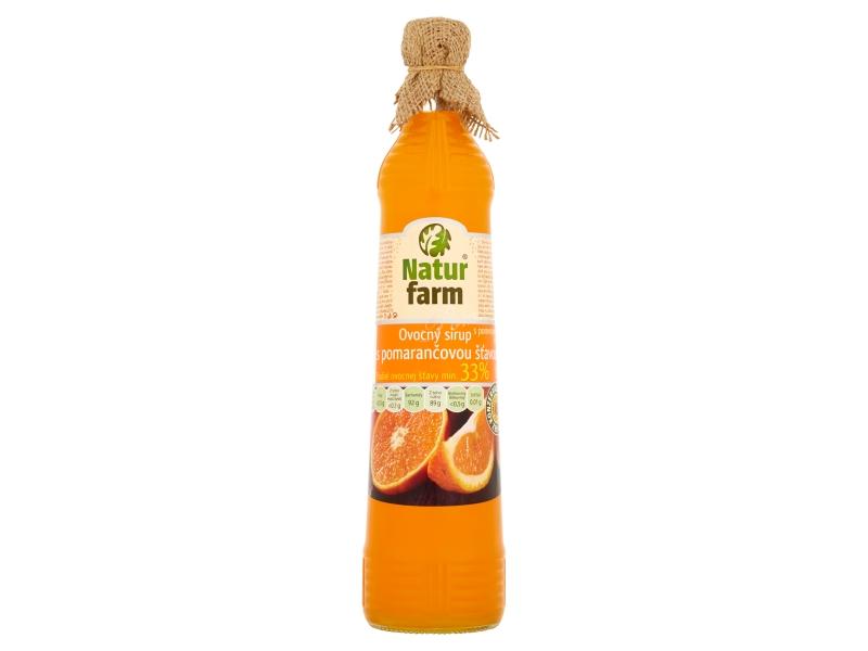 Natur Farm Ovocný sirup s pomerančovou šťávou 0,7l