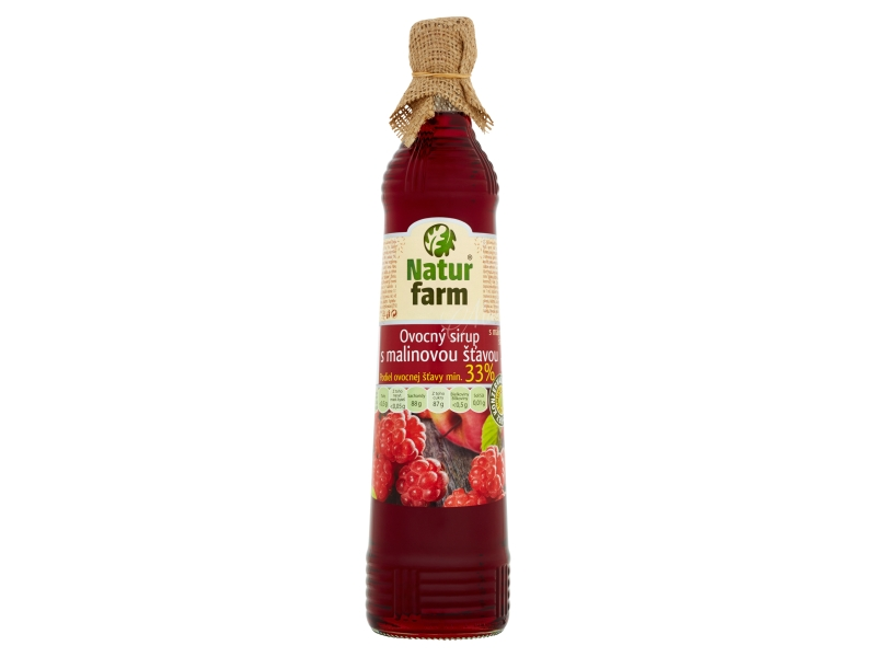 Natur Farm Ovocný sirup s malinovou šťávou 0,7l
